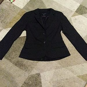 Banana Republic Black Double Button Fitted Blazer
